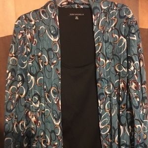 Tops - Jacket blouse swirls of colors